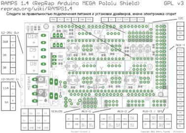 Схема платы ramps 1.4