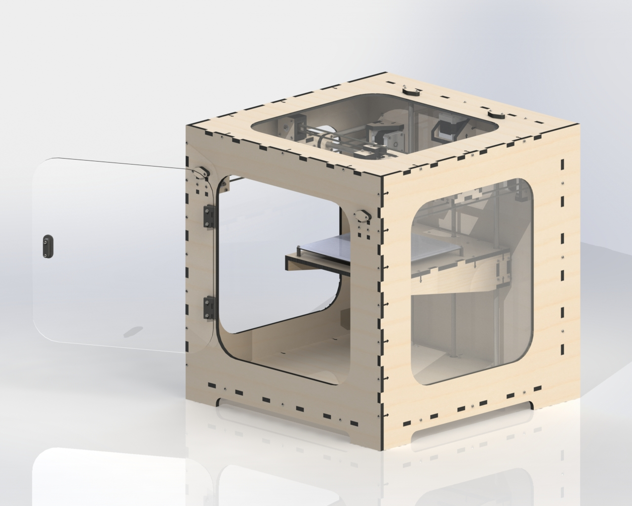 PLYWOOD BOX 3D isometry