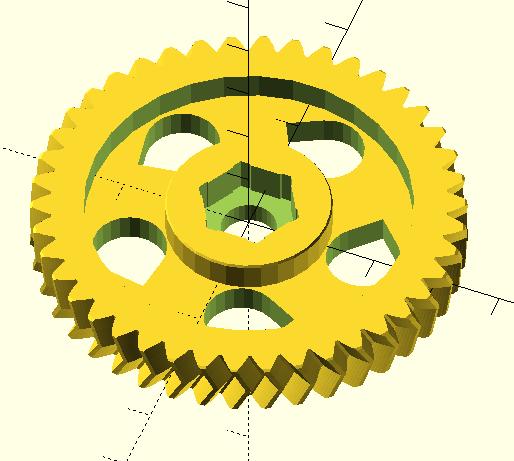 Моделирование в OpenSCAD для 3D печати - шестерня