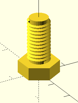 Моделирование в OpenSCAD для 3D печати - Болт