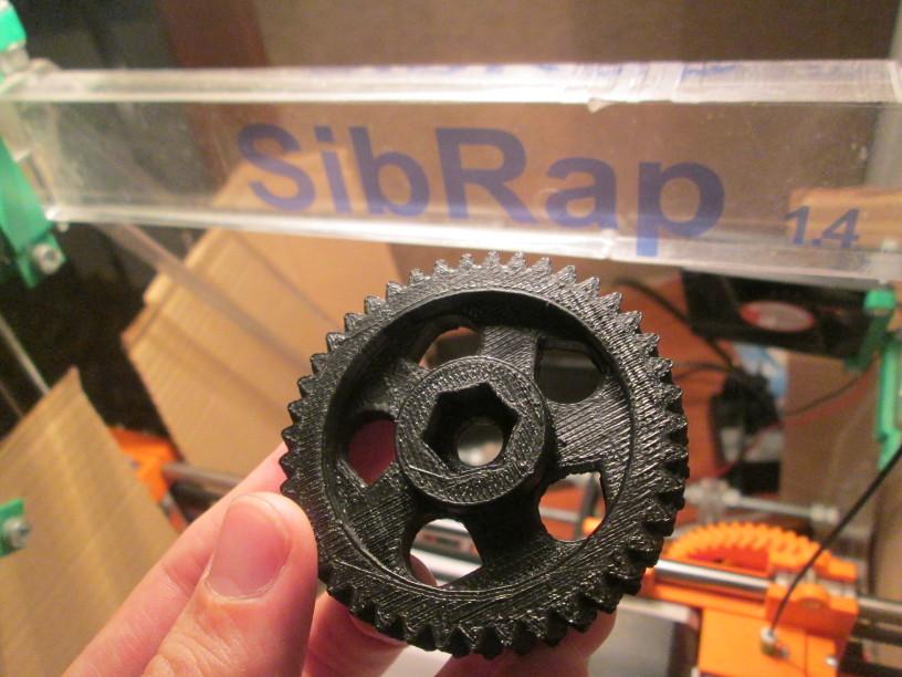 Моделирование в OpenSCAD для 3D печати - Шестерня готовая