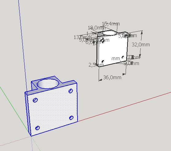 SketchUp. Интерфейс, создание простой детали