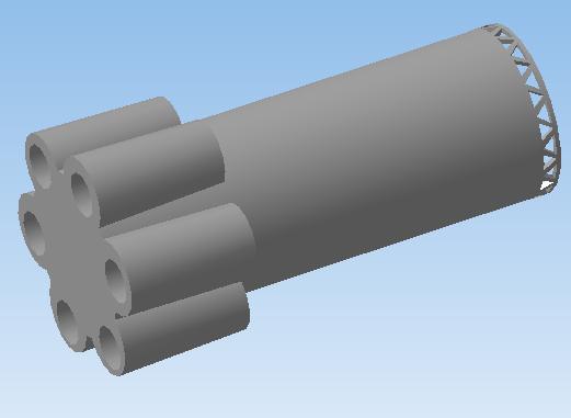 Реалистичная модель ракеты. Первая ступень