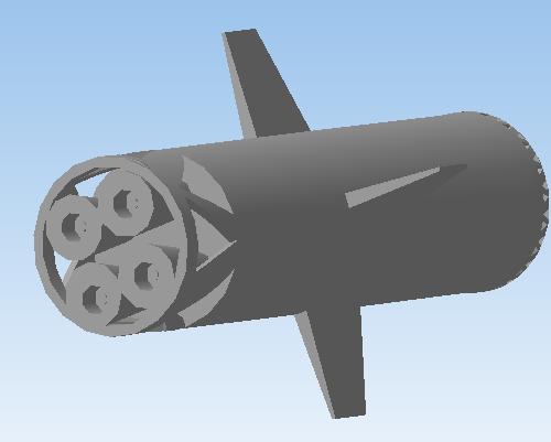 Реалистичная модель ракеты. Вторая ступень