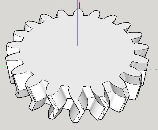 Моделирование в SketchUp. Шестерни и резьба
