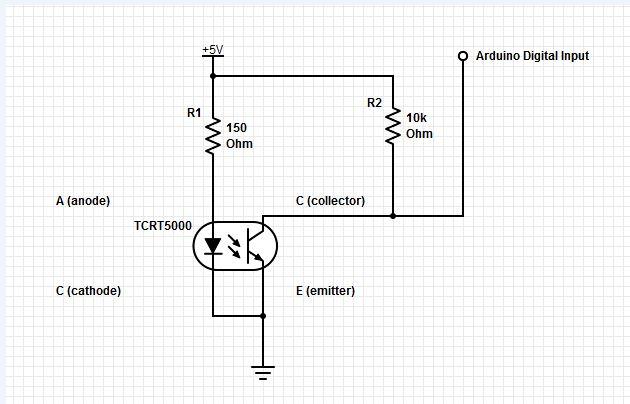 Схема подключения оптического датчика