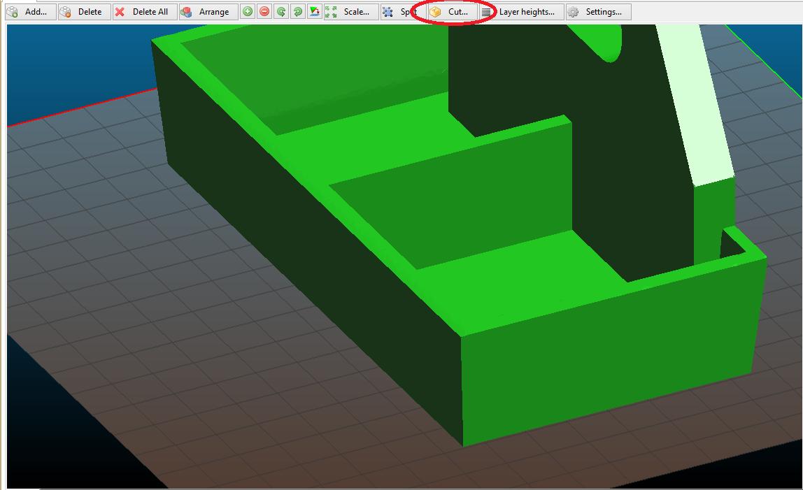 Slic3r, отсекаем от STL модели лишнее или печать большой модели частями